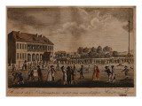 View of the Newly Built Clubhouse and Square, Berlin Giclee Print by F.A. Calau