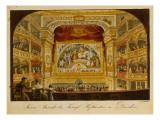 The Interior of the Royal Theatre at Dresden, C.1845 Giclee Print by J.C.A. Richter