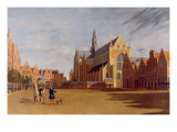 The Groote Market, Haarlem, with the Church of St. Bavo Giclee Print by Gerrit Adriaensz Berckheyde
