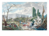 Tree Felling in the Garden of Versailles around the Baths of Apollo Giclee Print by Hubert Robert