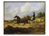 Confidence', Drawing a Gig Driven by a Groom, 1842 Giclee Print by John Frederick Herring Snr