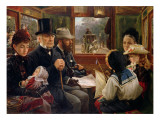 An Omnibus Ride to Piccadilly Circus, Mr Gladstone Travelling with Ordinary Passengers Premium Giclee Print by Alfred Morgan