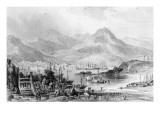 Hong-Kong from Kow-Loon, Engraved by Samuel Fisher Giclee Print by Thomas Allom