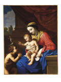 The Virgin and Child with St. John the Baptist, 1650 Giclee Print by Nicolas Mignard