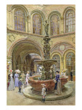 The Bank and Stock Exchange Building, Herrengasse, Vienna, 1891 Giclee Print by Franz Alt