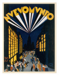 Nuovo Mondo, Poster Advertising a Radio City Style Venue in Paris, C.1928 Giclee Print by Isy Ochoa