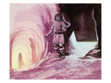 Tannhauser Following Venus Inside the Cavern Giclee Print by Ron Embleton