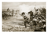 The Charge of the Royalist Infantry at Naseby, June 14Th, 1645 Giclee Print by William Barnes Wollen