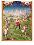 Fol 6V the Month of June: Haymaking, from the 'Breviarium Grimani', C.1515 Giclee Print by  Flemish School