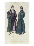 French Fashion Plate of a Pelisse Russe, 1830 Giclee Print by Paul Gavarni