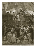 Scene at the Departure from Leith of the Darien Expedition Giclee Print by Paul Hardy