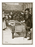 Trial of Charles, Illustration from 'Cassell's Illustrated History of England' Giclee Print by  English School