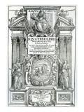 Frontispiece to 'Quattro Libri Dell'Architettura' by Andrea Palladio, 1570 Giclée-tryk af Italian School