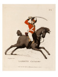 Lambeth Cavalry, from 'Loyal Volunteers of London and Environs', 1798-99 Premium Giclee Print by  Rowlandson