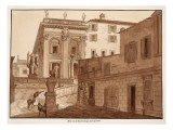 Michelangelo&#39;s House on the Capitoline Hill, 1833 Giclee Print by Agostino Tofanelli