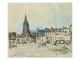 The Church of Sainte-Catherine, Honfleur, 1864 Giclee Print by Johan-Barthold Jongkind