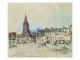 The Church of Sainte-Catherine, Honfleur, 1864 Giclee Print by Johan-Barthold Jongkind
