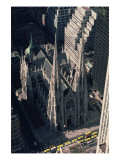 View of St. Patrick&#39;s Cathedral from the Rockefeller Center Giclee Print by James Renwick