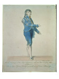 Figaro, Valet to Count Almaviva, from &#39;The Marriage of Figaro&#39; by Wolfgang Amadeus Mozart Giclee Print by Johann Nepomuk Muxel