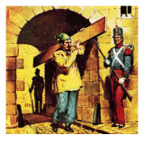 Napoleon Iii Escaping from Prison Dressed as a Workman Giclee Print by McConnell 