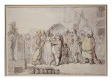 The Sale of English Beauties in the East Indies, C.1810 Giclee Print by  Rowlandson