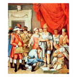 Hernan Cortes Orders Shackles to Be Put on the Ankles of Montezuma Giclee Print by  Spanish School