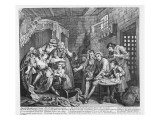 The Rake in Prison, Plate Vii, from 'A Rake's Progress', 1735 Giclee Print by William Hogarth