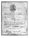 Requisition of the Committee of Public Safety, 1789-99 Giclee Print by French School