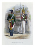 Tsar Nicholas I of Russia Inspecting His Guards Standing to Attention Giclee Print by Adolphe Yvon