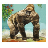 Guy the Gorilla, Illustration from 'Who's in the Zoo' Giclee Print by G. W Backhouse