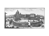 Bernini's Original Plan for St. Peter's Square, Rome Giclee Print by Giovanni Battista Falda