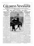 Another Battle of Trafalgar, Front Page of 'The Children's Newspaper', February 1932 Giclee Print by English School