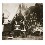 The Camp of the 31st Pennsylvania Infantry Near Fort Slocum, 1862 Giclee Print by Mathew Brady