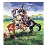Robert the Bruce, King of Scotland About to Kill Sir Henry De Bohum Giclee Print by Ron Embleton