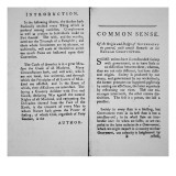 Introduction and First Page of 'Common Sense' by Thomas Paine, 1776 Giclee Print by  American School