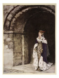 How Dame Lionesse Came Forth Arrayed Like a Princess Giclee Print by Arthur Rackham