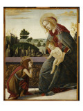 The Madonna and Child with the Young St. John the Baptish in a Landscape Giclee Print by Sandro Botticelli