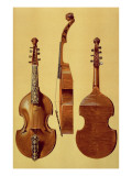 Viola D'Amore, 18th Century, from 'Musical Instruments' Premium Giclee Print by Alfred James Hipkins
