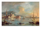 San Giorgio Maggiore, Venice, with the Giudecca and Zitelle Giclee Print by  Guardi
