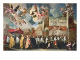 Procession of the Relics of the Holy Brescian Bishops, Post 1650 Giclee Print by Francesco Maffei