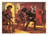 Pizarro Dying at the Hands of His Rebellious Soldiers Giclee Print by Alberto Salinas