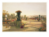 The Parterre, Trentham Hall Gardens, Pub. by Thomas Mclean Giclee Print by E. Adveno Brooke