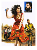 The Gipsy Girl Who Conquered the World, Carmen, Illustration from &#39;The Music-Makers&#39;, 1982 Giclee Print by Payne 