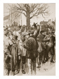 Warwickshire Farm Labourers' Strike: Meeting at Whitnash, 1872 Giclee Print by William Rainey