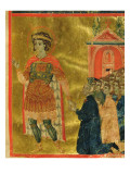 Some Brothers Praying to St. Theodore, from a Mariegola, 1350 Giclée-tryk af  Italian School