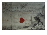Certificate Issued by the Worshipful Master of a Masonic Lodge, 1785 Giclee Print by  German School