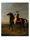 King Frederick William I on Horseback with Potsdam in the Background, C.1735 Giclee Print by  German School