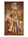 Fresco, Elisabeth-Galerie, Wartburg Castle, C.1845-55 Giclee Print by  Schwind