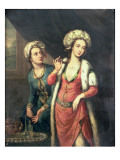 Portrait of a Lady Thought to Be Lady Mary Wortley Montagu Reproduction procédé giclée par George Knapton