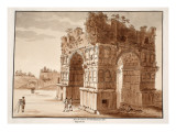 The Arch of Janus: Excavation of the Forum Boarium, 1833 Giclee Print by Agostino Tofanelli